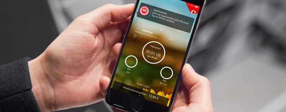 90 GB gratis für einen Tag bei Vodafone