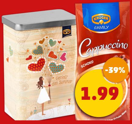 Penny (bundesweit): Krüger Family Cappuccino inkl. Vorratsdose