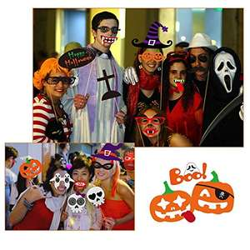 Halloween Photo Booth Requisiten 52 Teile