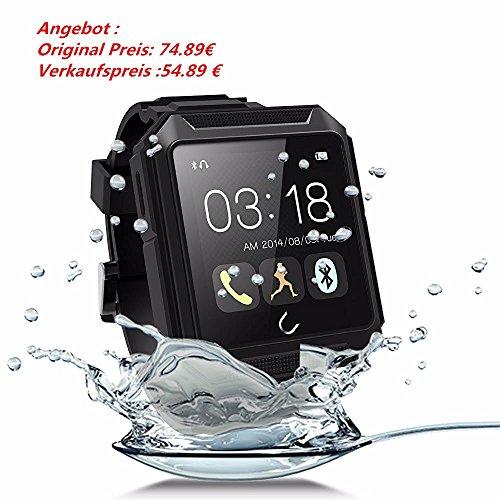 ELEGIANT UTerra 1,6 Zoll Bluetooth 4.0 64MB IP68 Touch Screen Wasserdichte Smart intellingent Armband Uhr @amazon prime