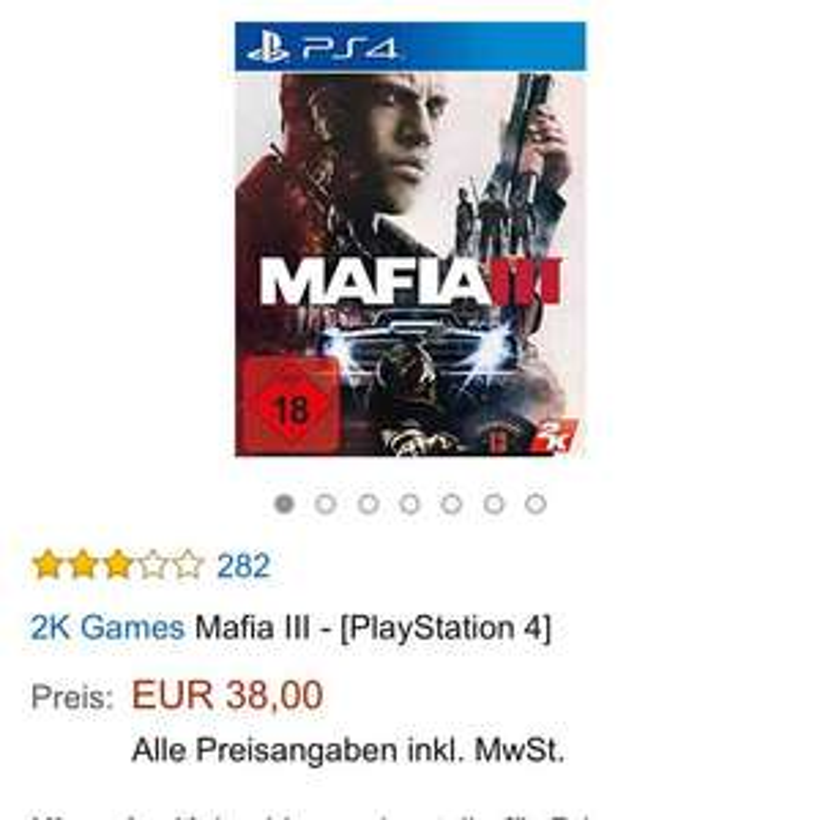 Mafia 3 für die PS4 bei Amazon