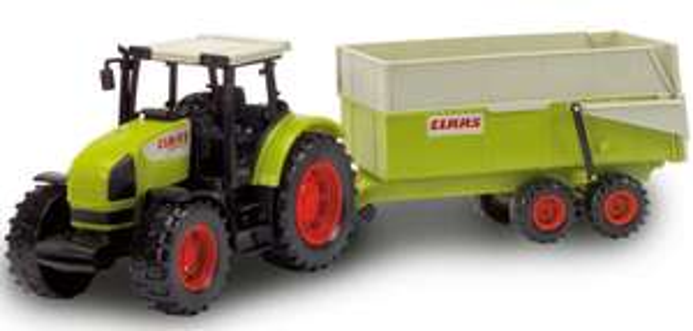 [Netto online] CLAAS Traktor mit Anhänger Dickie Toys
