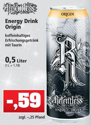 [Thomas Philipps] Relentless Energy Drink 0,5l versch. Sorten für 0,59€ + 0,25€ Pfand