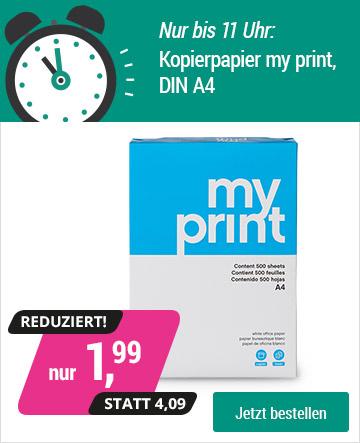 Größere Mengen hochweißes Kopierpapier my print DIN A4 – 1,99€ anstatt 4,99€