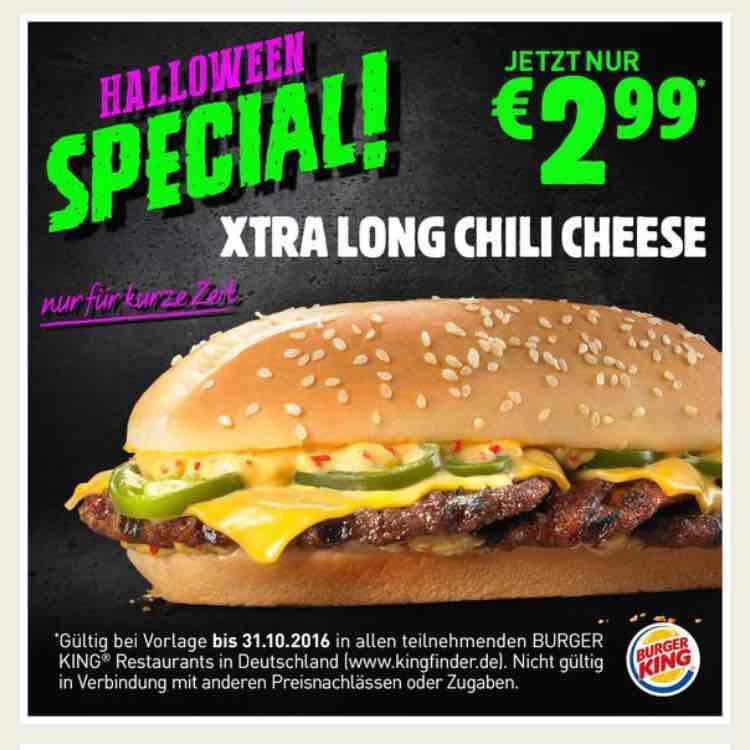 Bundesweit Burger King Gutscheine (z.B Long Cheesburger oder Crispy Chicken)