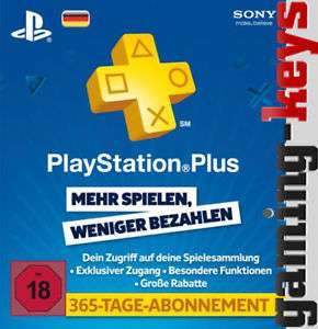 [ebay] PlayStation Network 365 Tage Abo