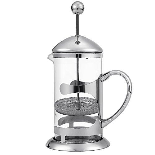 [Amazon] Kaffeebereiter French Press System aus Borosilikatglas & Edelstahl, 1 Liter Fassungsvermögen