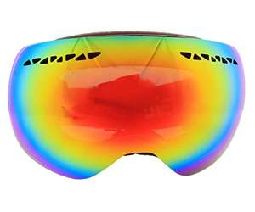 Hubo Skibrille Snowboardbrille schwarz Rahmenlos BIG SIZE verspiegelt