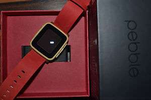 [ebay] Pebble Time Steel Gold Smart Watch Uhr iOS Android