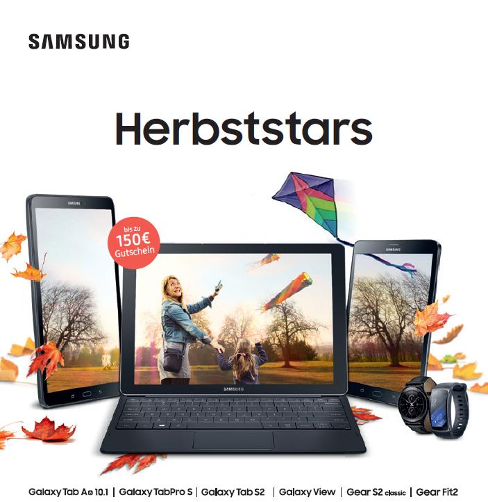 Samsung Aktion im November - Best Choice Gutschein bis zu 150 € zu einigen Smartwatches und Tablets