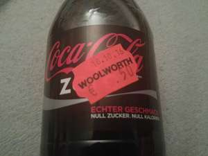 [Lokal] Coke Zero/Light 0,5l(MHD 31.10.16) 0,50€ (+25cent Pfand)bei Woolworth Wuppertal am Real