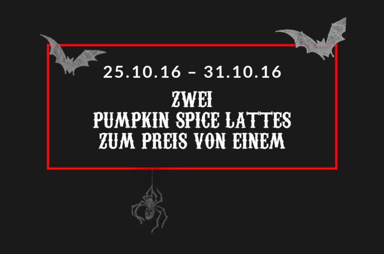 Starbucks: Zwei Pumpkin Spice Lattes zum Preis von einem