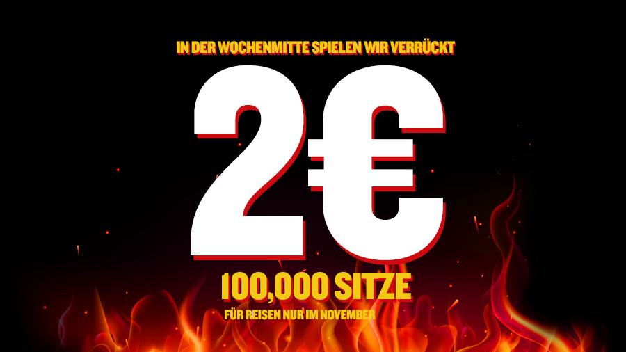 """[RYANAIR] 100.000 """"Sitze"""" (Flüge) für 2€"""