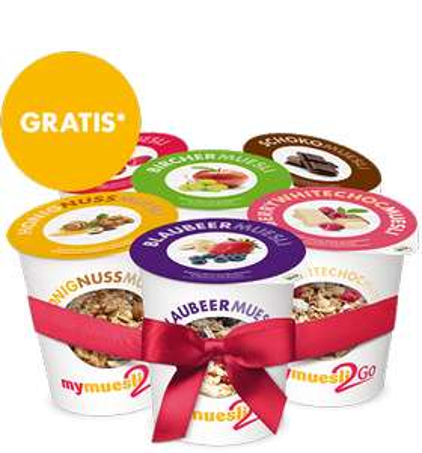 6er Probierpaket MyMuesli 2Go für 3,90€ (Versandkosten) #UPDATE