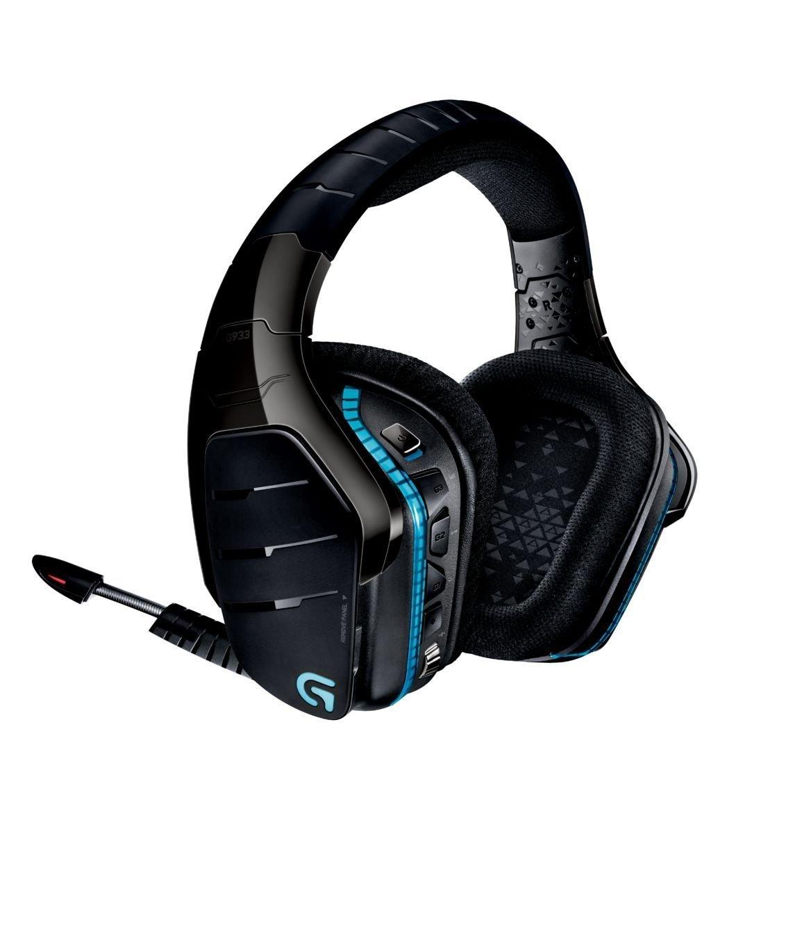 Amazon WHD - Logitech G933 Artemis Spectrum Kabelloses professionelles Gaming Kopfhörer (mit 7.1-Surround-Sound, 2,4-GHz-Verbindung) schwarz