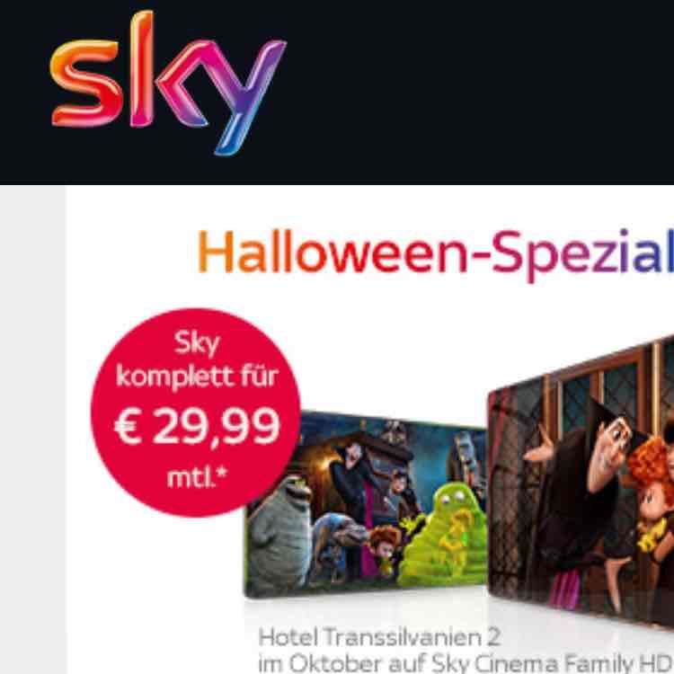 Sky Komplett inkl. Entertainment und HD