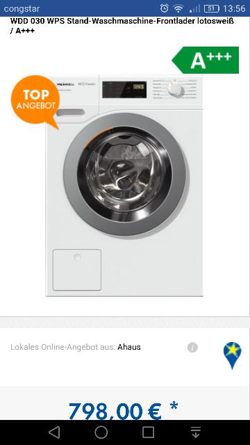 Miele Wdd 030 Waschmaschine (Lokal Ahaus)