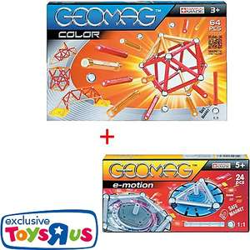 [Toys'r'Us] Geomag Set (64tlg Geomag Color + 24-tlg e-motion)