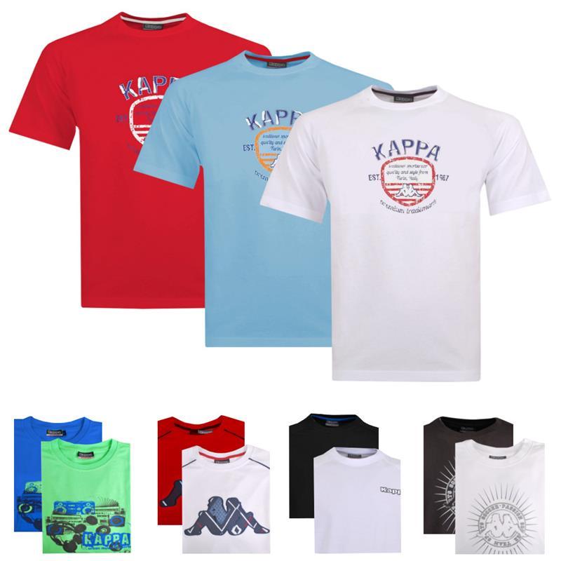 Verschiedene Print T-Shirts von Kappa 100 % Baumwolle für 9,99  € [ebay]