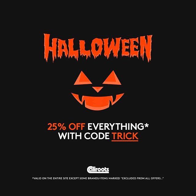 Caliroots 25% Halloween Gutschein auf fast alles!