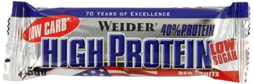 Weider Low Carb High Protein Bar ** Rote Früchte **  25 x 50g