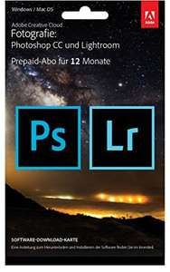 [Amazon Prime] [31%]  Adobe Creative Cloud Fotografie (Photoshop CC + Lightroom) 1 Jahreslizenz für 99,99€ bzw. 8,25€/Mon
