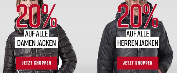 [Jeans-Direkt] 20% auf alle Herren- und Damenjacken, auch für Sale