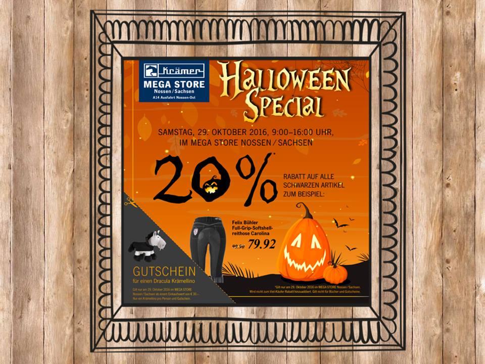 [Lokal] Halloween Special: 20% im Krämer Mega Store Nossen auf alle schwarzen Artikel