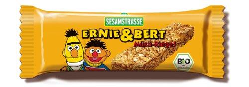 Sesamstrasse Ernie & Bert Müsli-Einzelriegel, 25er Pack (25 x 25 g Beutel) - Bio