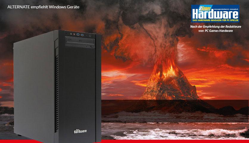PCGH ALTERNATE PC mit Core i5-6500, Asus GTX 1060 6GB, 275GB SSD + 1TB HDD, 16GB RAM und Windows 10 für 999,99€ von Alternate