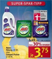Ariel Actilift Pulver oder Flüssig 18-20WL bei Rossmann für 1,75€