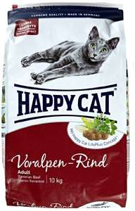 (Amazon Prime) Happy Cat Katzenfutter Adult Voralpen-Rind 10 kg