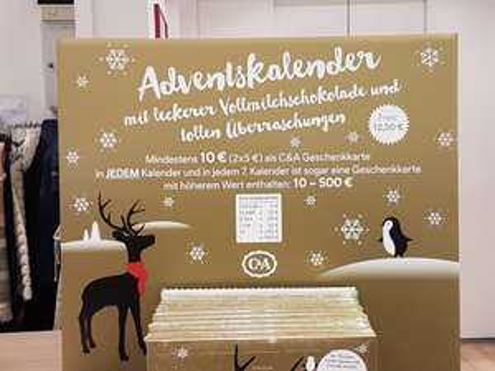 C&A Adventskalender mit mindestens 10€ Geschenkkarte