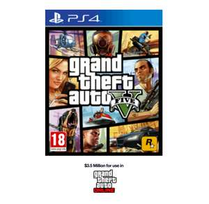 (Game.co.uk) Grand Theft Auto 5 (PS4/Xbox One) + $3,500,000 Whale Shark Card (UK) für 36,77€