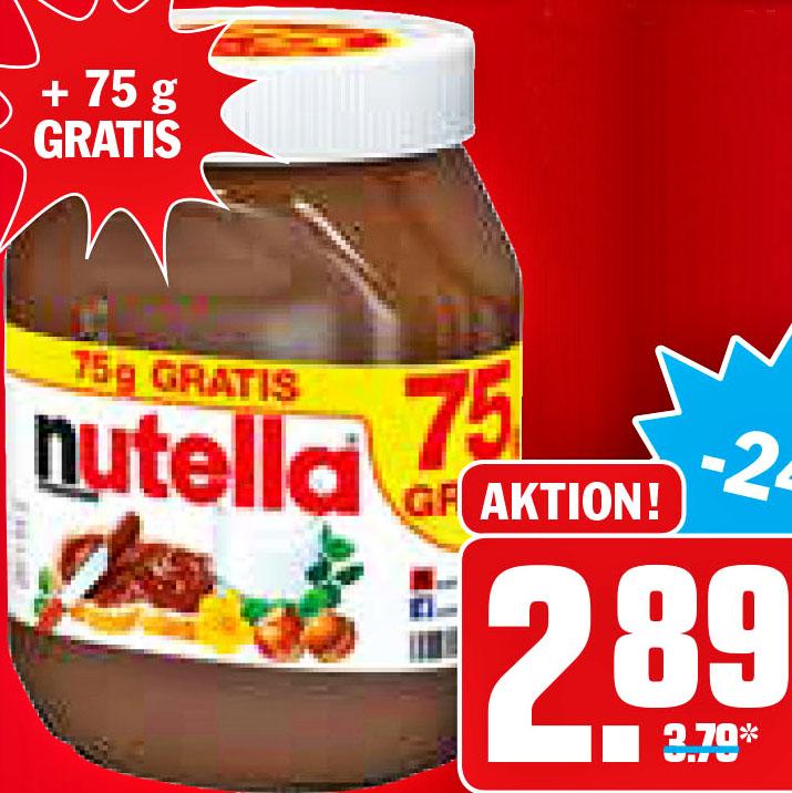 825 g Nutella für 2,89€ bei [HIT] und [AEZ] (3,50€ kg-Preis)
