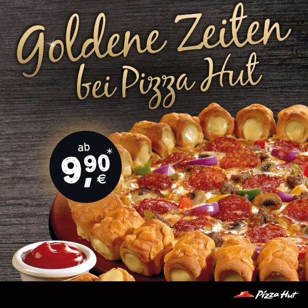 Pizza Hut: Cheezy Crust und Co. für nur 9.90 €