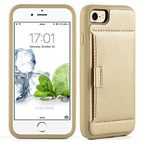 """iPhone 7 (4,7"""") - Via Amazon - Lederhülle in Gold/Blau mit Staufach für Scheckkarten - Statt 16,99€ nur 4,99€"""