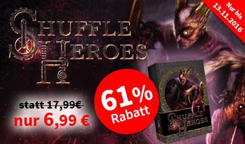 [Spiele-Offensive] Shuffle Heroes für 8,82€ inkl. Versand statt Idealo 18,46€