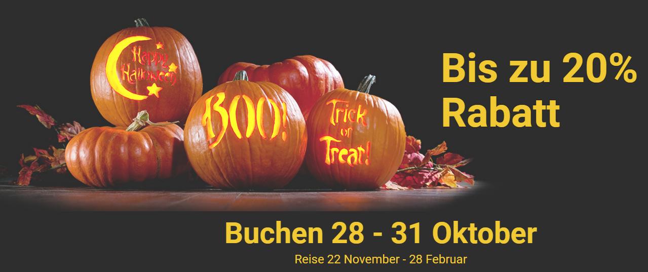 Ryanair Halloween-Tage [28.10. - 31.10.]  -20% auf div. Flüge [AB 4,99€!]