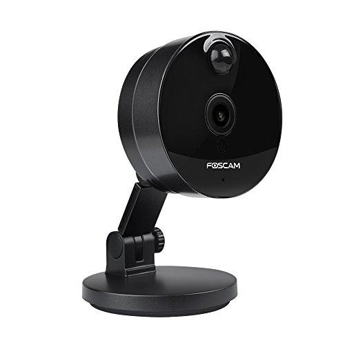Foscam C1 IP Kamera, 720p HD, 802.11n zwei Wege Audio Nachtsichtfunktion (C1, schwarz)