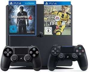 Playstation 4 Slim 1TB + Fifa 17 + Uncharted 4 + 2. Controller