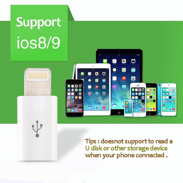 Lightning Adapter Micro USB Buchse auf Lightning Stecker (AliExpress]
