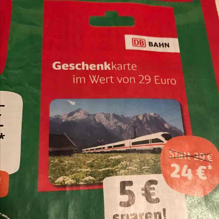 [Rewe/DB] 29€ Bahn Guthaben für 24€
