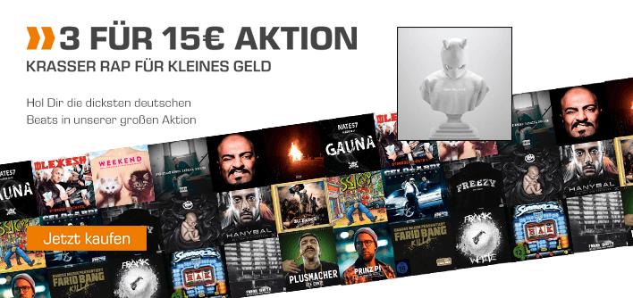 CD Aktion 3 für 15 € Deutscher Rap & Hip Hop