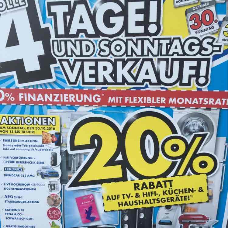 20% auf TV, HiFi, Küchen & Haushalt in Sindelfingen Lokal