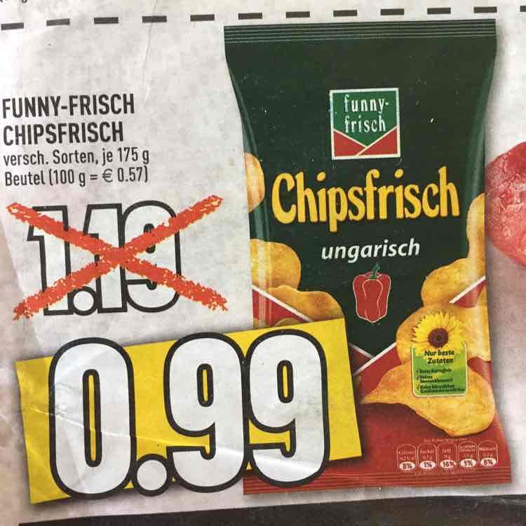 Funny-Frisch Chipsfrisch 175g Beutel ab 31.10 bei Edeka Rhein-Ruhr für 0,99€ statt 1,19€