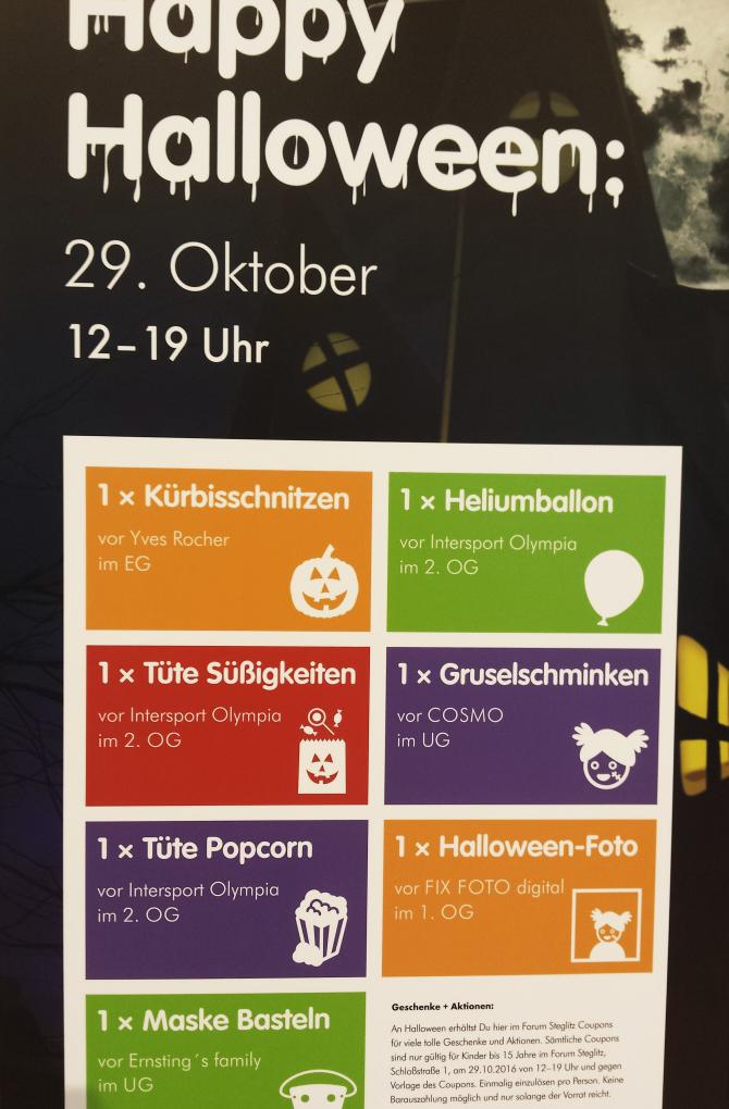 [Offline] [Lokal Berlin Forum-Steglitz] Diverse Gratis Artikel für Kinder bis 15 Jahre im Forum Steglitz (Süßigkeiten, Popcorn, Luftballon, Maske & mehr)