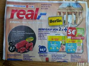 [Real] offline, lokal in Berlin - Pampers Jumbo+ Pack ab 14,99€ + Zugabe