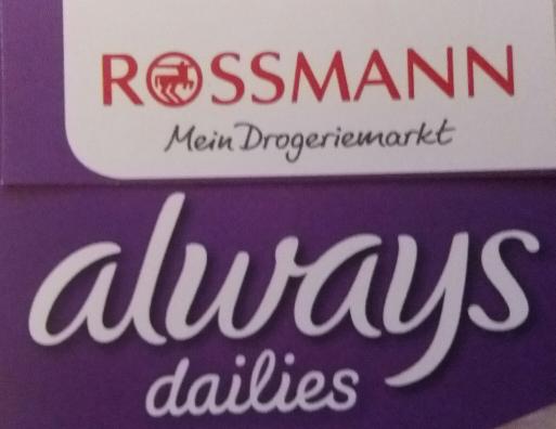 rossmann 0,50 EUR Rabattcoupon auf Always Slipeinlagen Vorteilspack