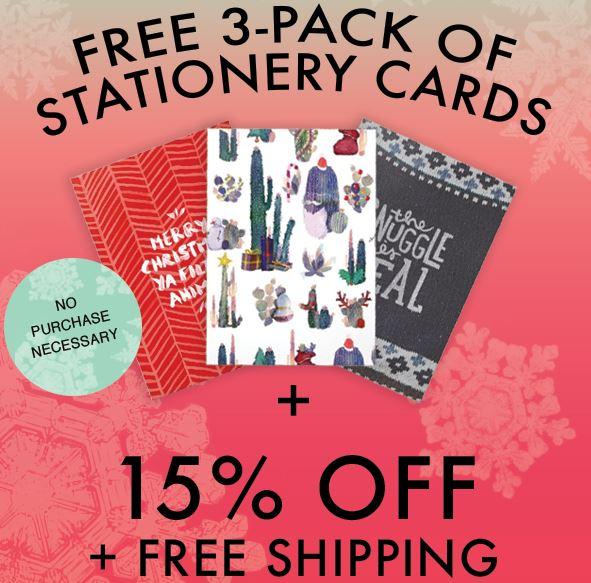 Society6 - 15% Rabatt + 3er Pack Stationery Cards kostenlos (-12$) + kostenlose Lieferung